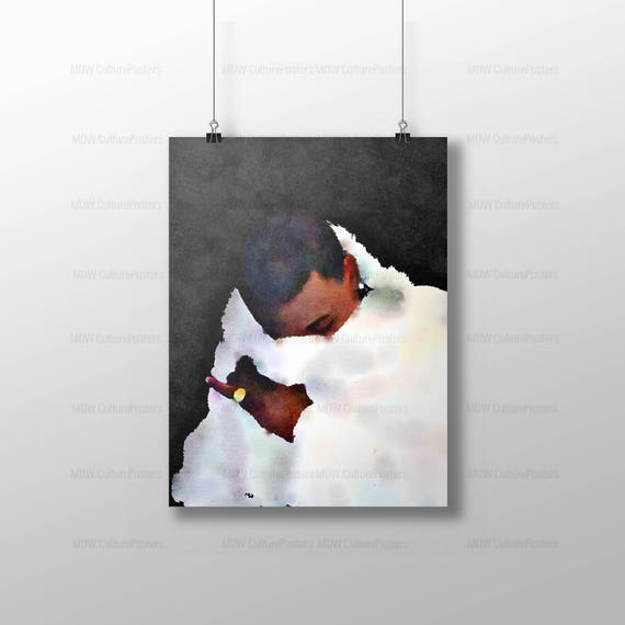 Trendy acquerello arte moderna hip-hop arte arte di rapper  1bd504317b27