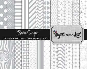 50% OFF - Gray Digital Paper