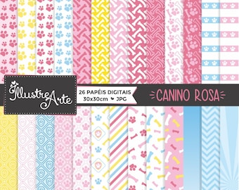 50% OFF - PAW Pink Digital Paper