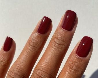 Rouge Rockefeller - Burgundy Red Nail Polish - Blood Red Creme Nail Polish - Vegan Nails