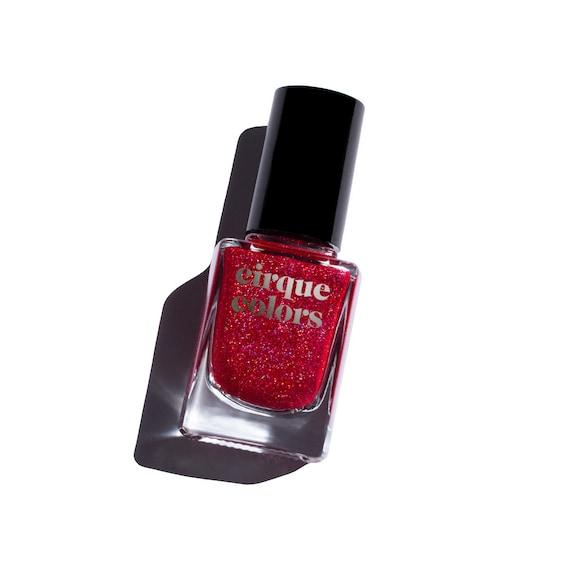 Ruby Nail Polish: Ruby Red Holographic Flake Nail Polish
