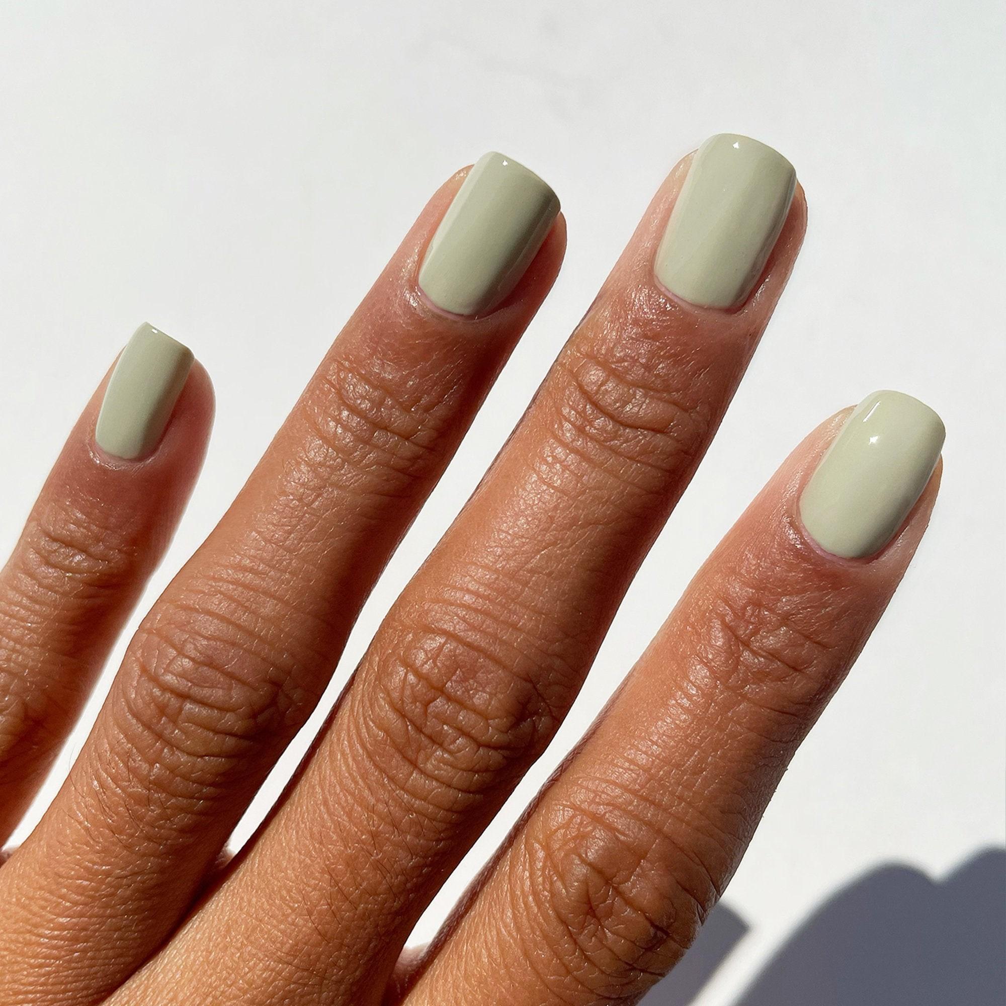 Carnegie   Sage Green Nail Polish   Light Green Creme Nail Polish   Vegan  Nails