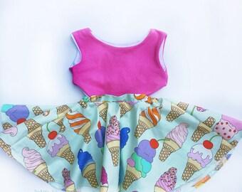 Ice Cream Dress Vintage Dress Special occasion Dress Birthday Dress