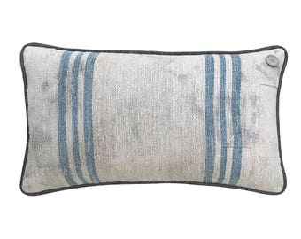 """Antique German Grain Sack Pillow from the 1883  -  20"""" x 11"""""""
