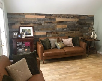 10 SQ. FT Reclaimed Wood Accnt Wallboards From Barn Lumber