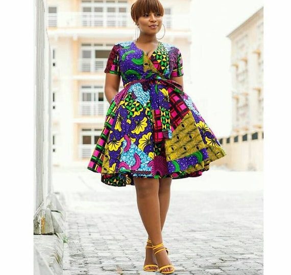 attire dress for african short ankara pleated clothing ankara african dress African african women print african women dress dresses clothing qA0Ha
