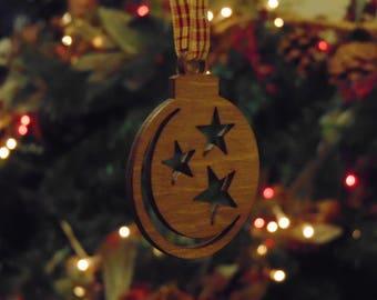 laser cut christmas tree decoration bauble
