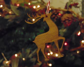 laser cut christmas tree reindeer