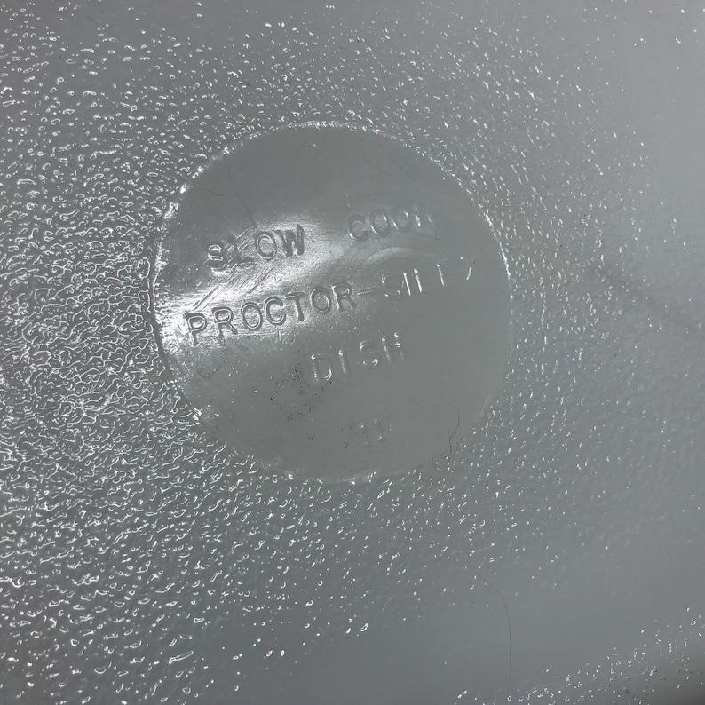 PROCTOR SILEX Slow Cook PAN  Refridgerator storage dish 1960s-70s Mid Century Modern Low Temp cookware storage kitchen opaline glassware