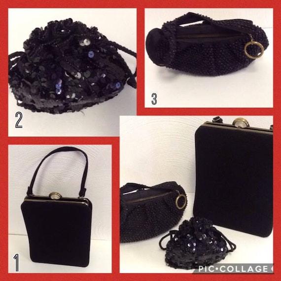 Lot of Vintage Black Evening Bags