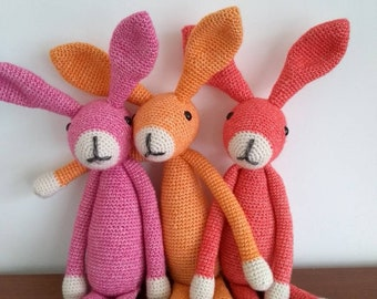 Crochet cuddly cuddly rabbit