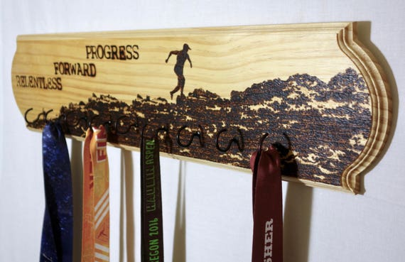 "Race medal holder - ""Relentless Forward Progress"" **FREE U.S. SHIPPING**"
