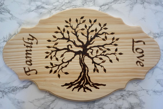 Family Tree  - Wood burned serving / cheese board