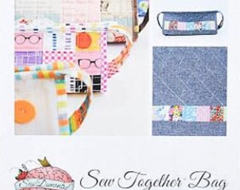 Sew Together Bag, Sew Demented, Craft Bag Pattern, Makeup Bag Pattern, Travel Bag Pattern, Pencil Case Pattern, Art Supply Organizer