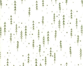 fb219bb5740 Gingiber Merriment, Winter Trees in White and Holly , Woodland Fabric,  White Christmas Fabric, Sold By The Half Yard, 48274 21