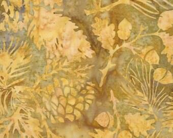 200 Thread Count Sold by the Half Yard Brown Floral Batik Hoffman Rose in Havana