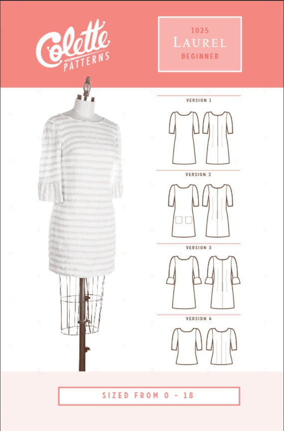 Colette Patterns, Laurel Dress and Top PAPER Pattern, Women's Clothing Pattern, Indie Sewing Pattern