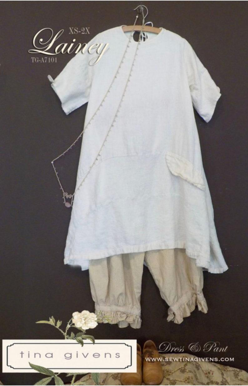e7b6db398f Tina Givens Patterns Lainey Dress and Pant Pattern Women | Etsy