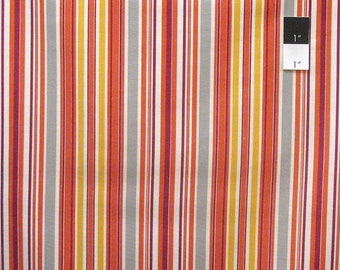 SALE Fabric, Colorful Striped Fabric, Franklin by Denyse Schmidt, Awning Stripe in Glade, Discontinued Fabric