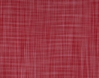 Loominous by Anna Maria Horner, Crosshatch in Smart, Woven Cotton, Red Crosshatch Fabric, Plaid Fabric