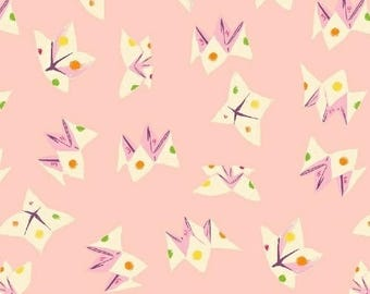 Heather Ross, Sleeping Porch, Fortune Teller, Pink Cotton Lawn, Cotton Candy Pink, Cootie Catcher Fabric
