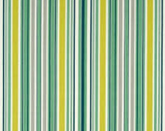 SALE Fabric, Colorful Striped Fabric, Franklin by Denyse Schmidt, Awning Stripe Glen, Green Striped Fabric, Lime Green Fabric, Green Fabric