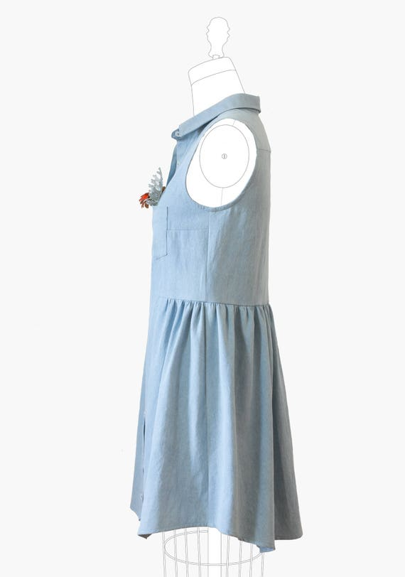 Grainline Alder Shirtdress Pattern Indie Sewing Pattern | Etsy