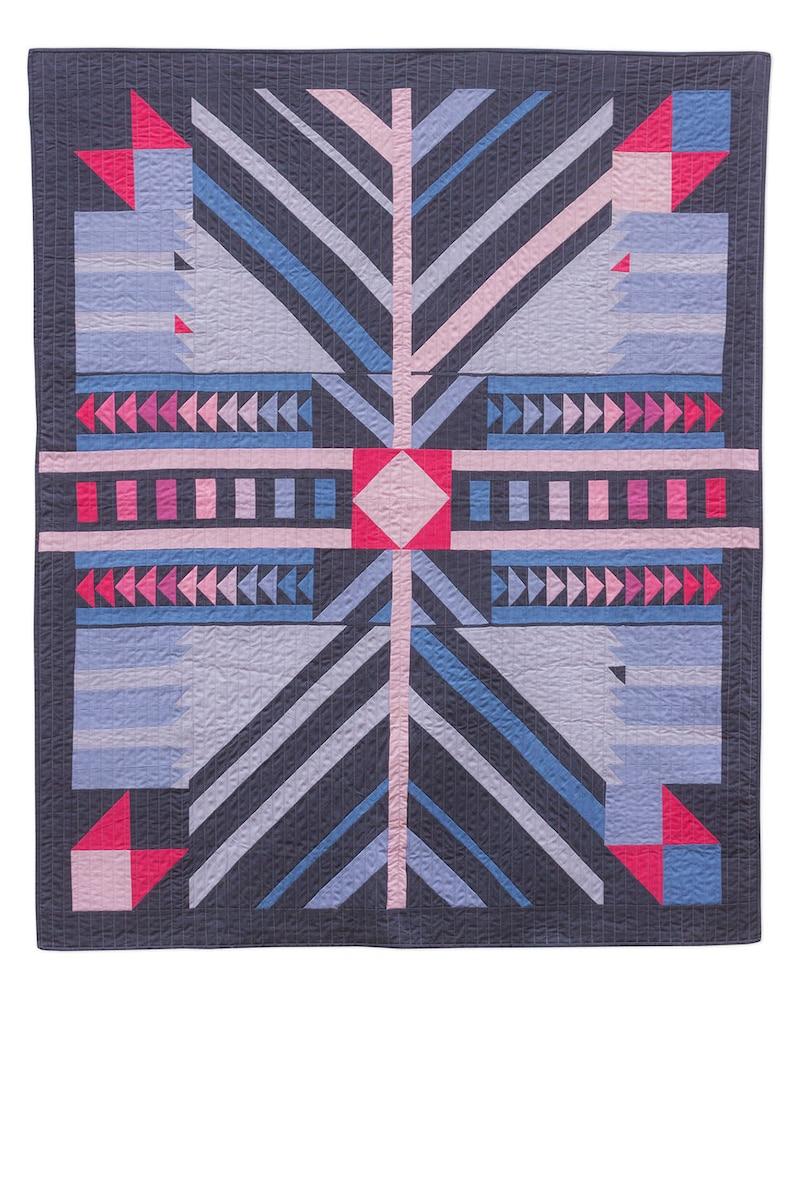 Timber modern pieced quilt PATTERN Alison Glass