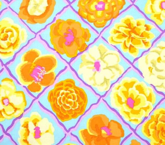 Kaffe fassett fabric camelia pastel yellow flower fabric etsy image 0 mightylinksfo