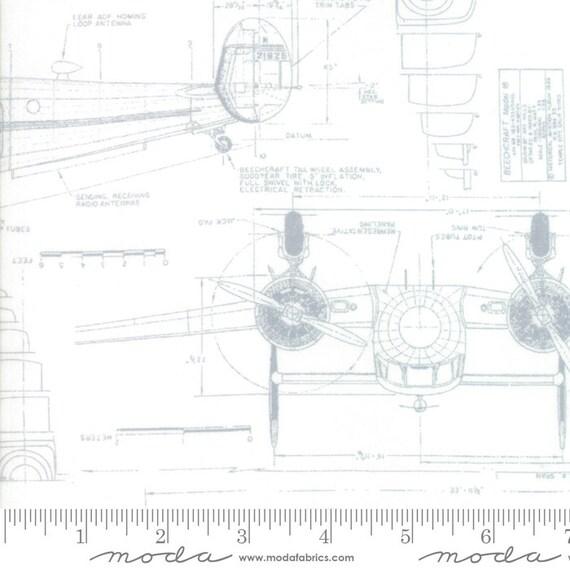 Re-Order: Moda, Zen Chic, Modern BG More Paper White, Airplane Schematic on