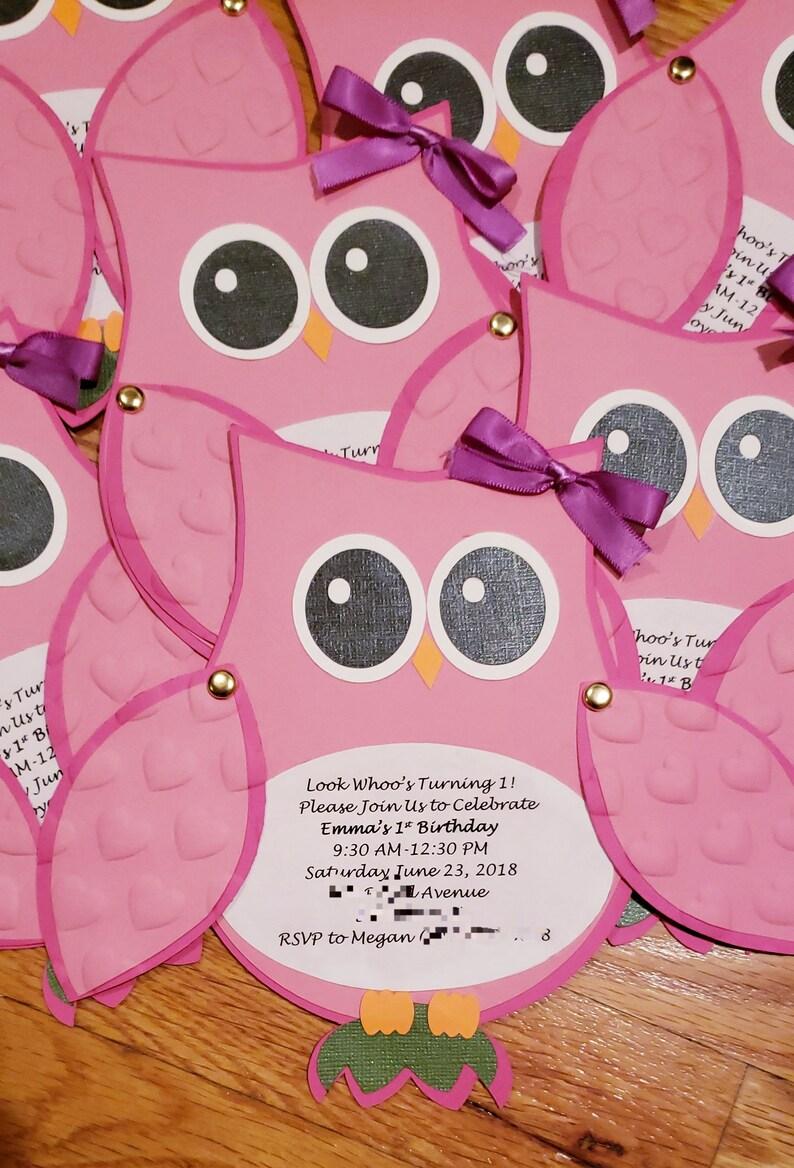 Owl Invitation Owl Theme Owl Baby Shower Owl Birthday Etsy