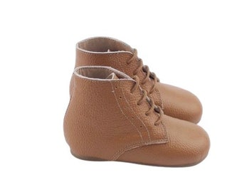 Vintage Boots | Leather toddler boots | baby lace up boots | Tan boots | vintage baby boots | brown baby boots