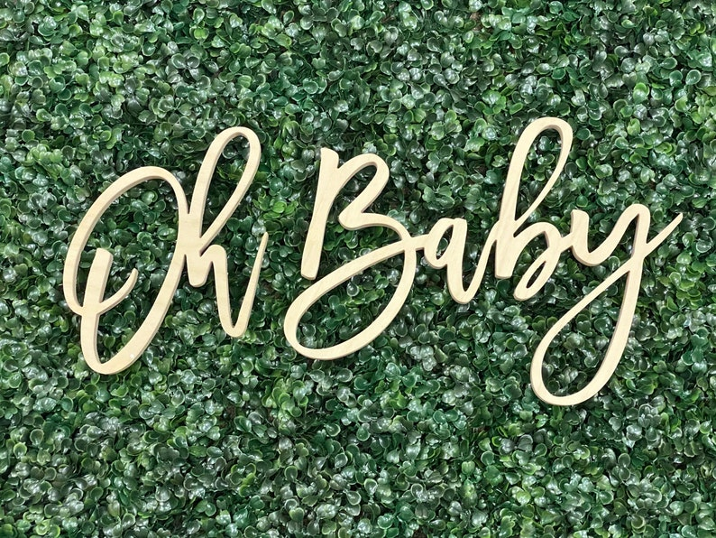 Oh Baby Wood Sign oh BabyShower Sign Sprinkle oh baby shower image 0