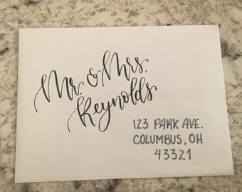 Cursive invitation etsy handwritten addresses for envelopes stopboris Gallery