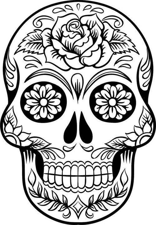 Sugar Skull Rose Svg Etsy