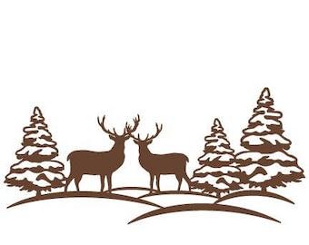 Deer Forest SVG