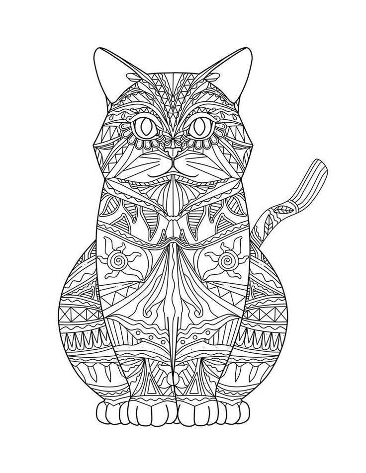 Katze-Mandala SVG | Etsy