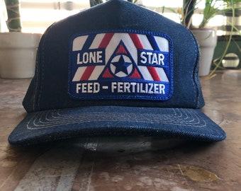 Vintage Denim Trucker Hat w  Lone Star Patch 450d1302343b