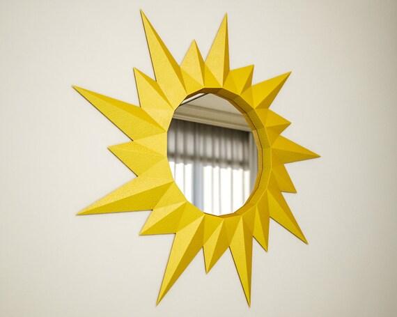 Diy Papercraft 3d Frame Sun Paper Craft Model Mirrorphoto Etsy