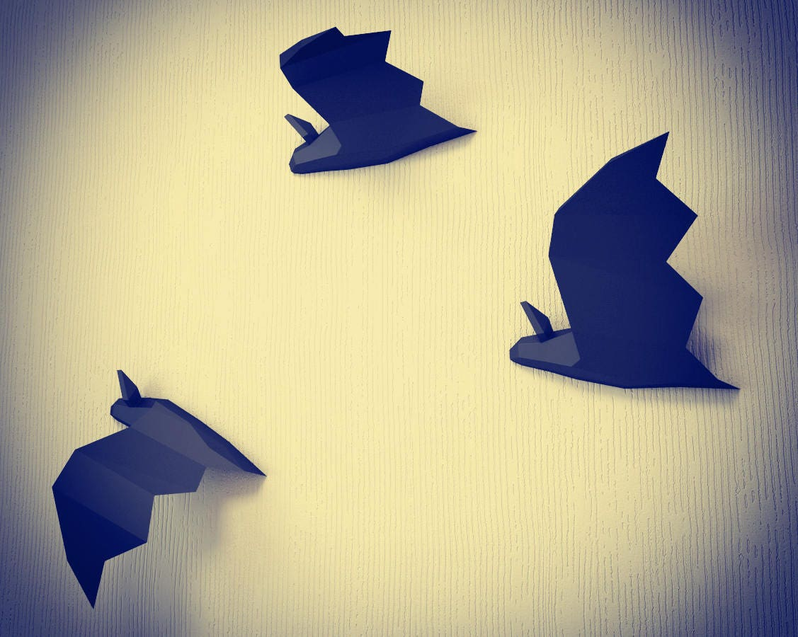 Papercraft Fledermaus DIY Papier Craft-Projekt wie nach