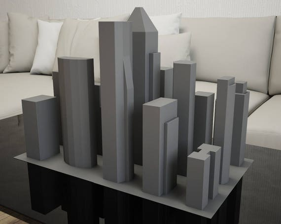 Papercraft New York City 3d Paper Craft Buildings Pdf Etsy