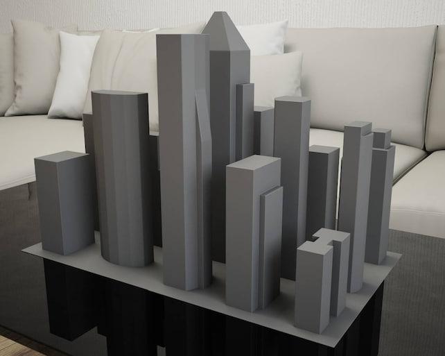 Papercraft New York City 3d Paper Craft Buildings Pdf Etsy