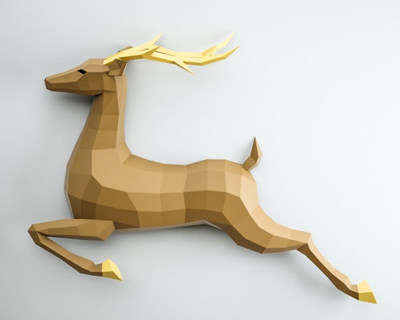 Deer family papercraft