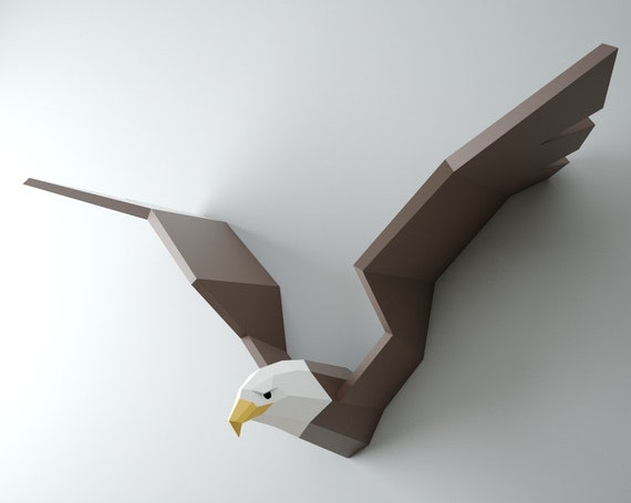 3d papercraft eagle diy paper craft bald eagle hawk vulture etsy