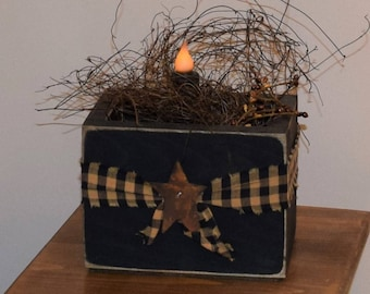 Primitive Candle In Box