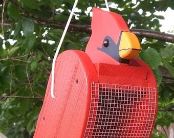 Cardinal bird feeder