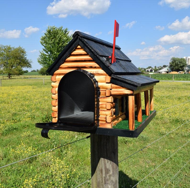 Mailbox Amish Handmade Stoltzfus Almond Wood
