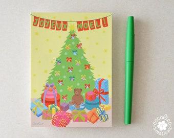 """Carte postale illustration """"sapin de Noël """""""