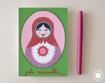 "Carte postale illustration ""matriochka """