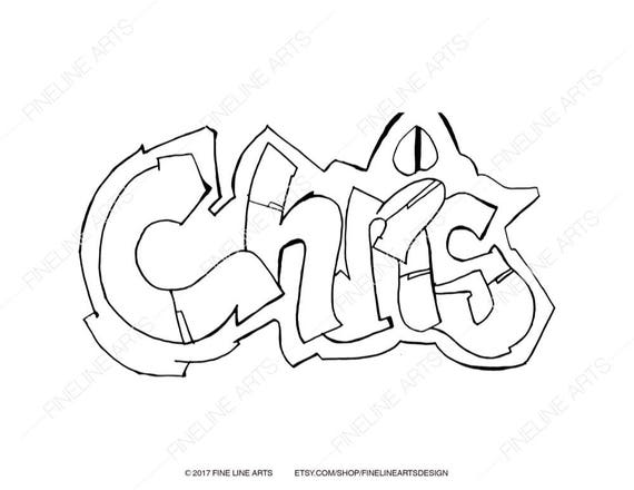 Chris Coloring Book Pages Boys Mens Baby Names Personalized Etsy
